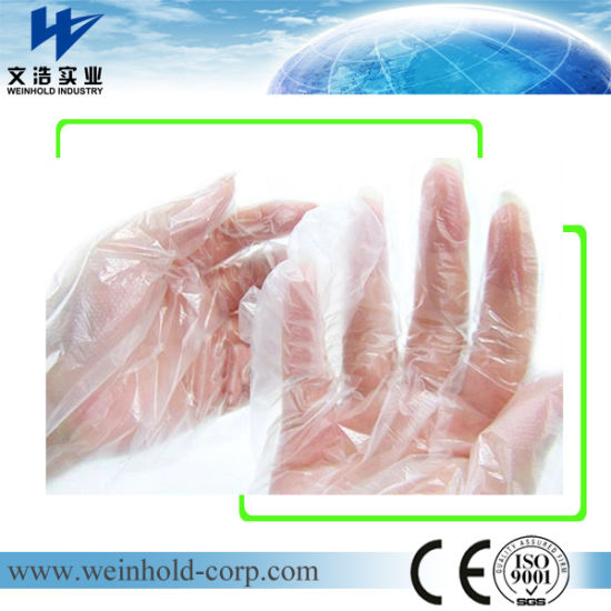 100% Virgin Material Garden Disposable PE Glove in Middle Size