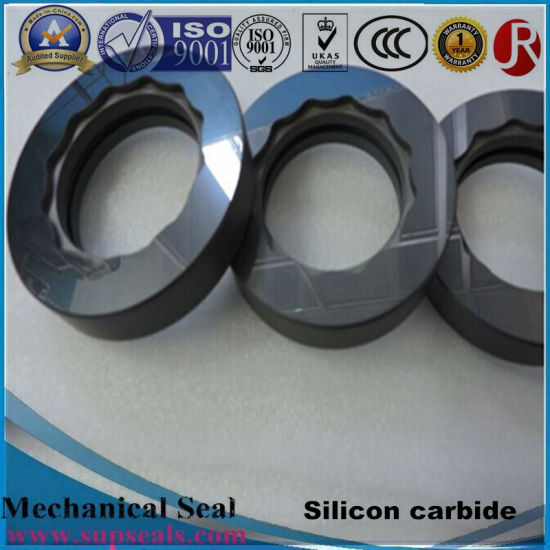 Black Silicon Carbide Ceramic Mechanical Seal Ring for Water Pump