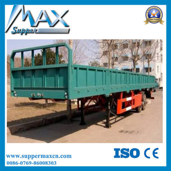 2017 High Quality 35-80tons 3 Axles Flatbed Cargo Trailer for Sale pictures & photos
