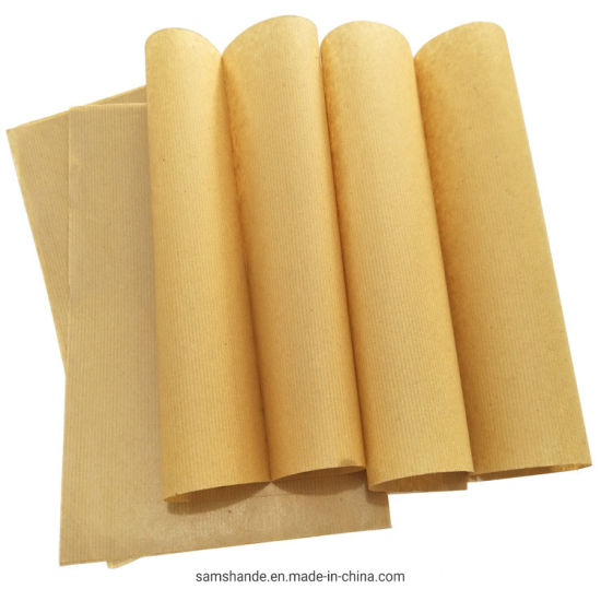 Brown Color Ribbed Kraft Paper Roll One Side Machine Glazed pictures & photos