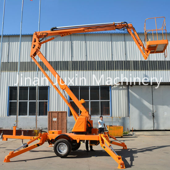 Towable Boom Lift for Sale Trailer Mounted Boom Lift Truck Used for Cherry Picker