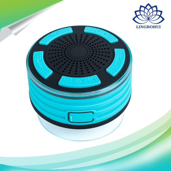 Shower Radios Ipx7 Waterproof Shower Radio Speaker with LED Lights, Rechargeable Battery pictures & photos