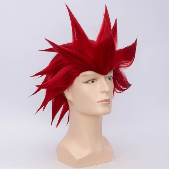 China Short Hair Wig Male Red Synthetic Men Wig China Wigs And Short Wigs Price