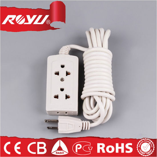 220V Universal Multi Socket Electrical Power Extension Cord