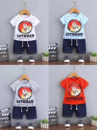 5db539733 Wholesale of All Kinds of Cute Pattern Kid Suit Boys Casual Holiday T Shirt  Clothing