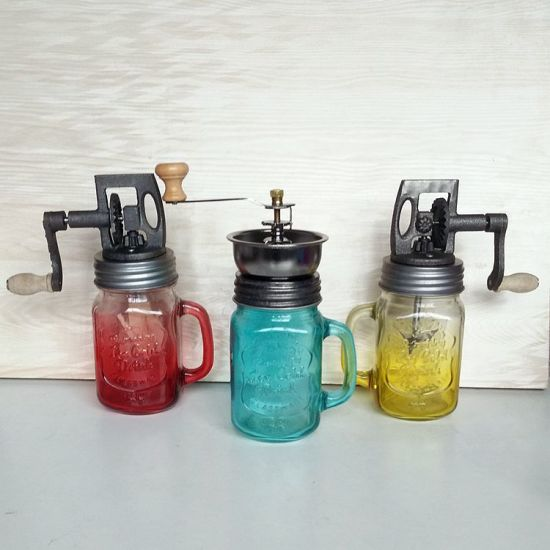 Butter Making Glass Jar with Churner and Handle pictures & photos