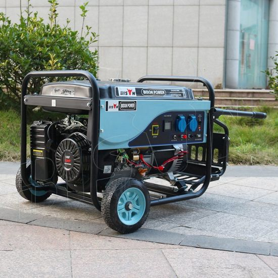 Bison (China) BS5500p (M) 4kw 4kVA High Quality 1 Year Warranty Silent Air-Cooled Gasoline Generator Set pictures & photos