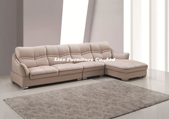 Divany Modern L Shape Sectional Genuine Leather Sofa pictures & photos