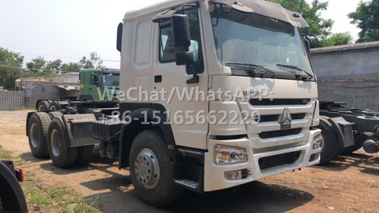 Wholesale Factory Price Used Trailer Tractor 6X4 35 Ton Diesel 375HP Sinotruck HOWO Used Tractor Truck in Stock