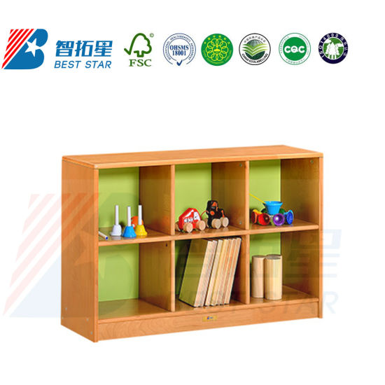 Day Care Furniture Cabinet, Preschool and Kindergarten Nursery School Kids Cabinet, Play Furniture Toy Wood Cabinet, Room Book Shelf and Side Cabinet