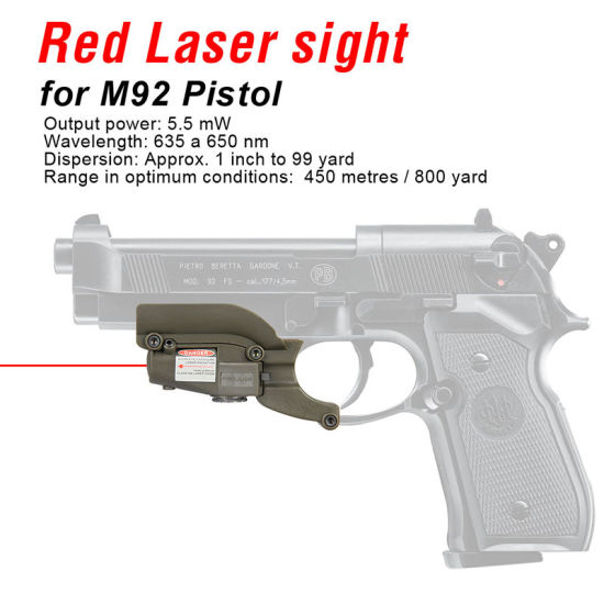 Tactical Red Laser Mini Red Laser Sight for M92 Pistol