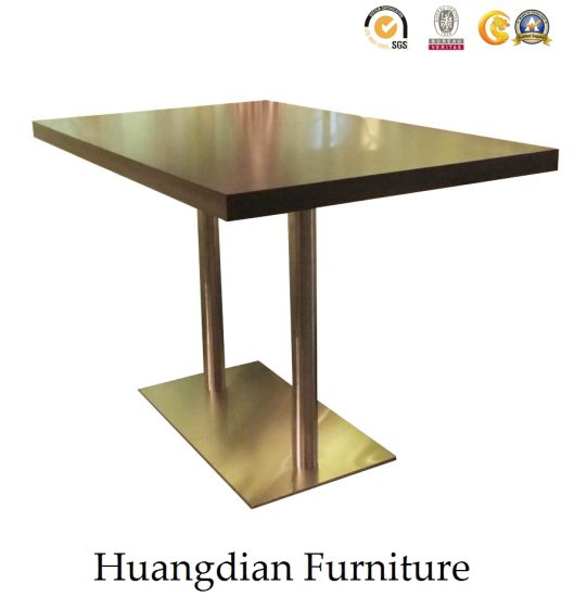 Wooden Table Top And Metal Leg Square Dining For 5 Seaters Hd882