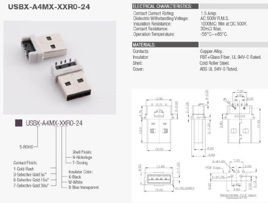 China Right Angle Through Hole USB 2.0 Male/ Connector PCB End ... on mouse schematic, remote control schematic, ir sensor schematic, dvi to vga schematic, ir receiver schematic, wireless schematic, displayport schematic, ipod schematic, fm radio schematic,
