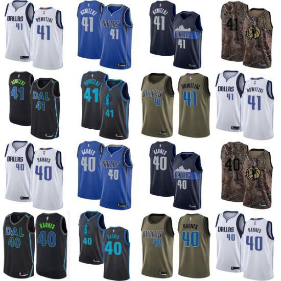 innovative design 868d9 080b2 Dallas Mavericks 40 Harrison Barnes 41 Dirk Nowitzki Basketball Jerseys