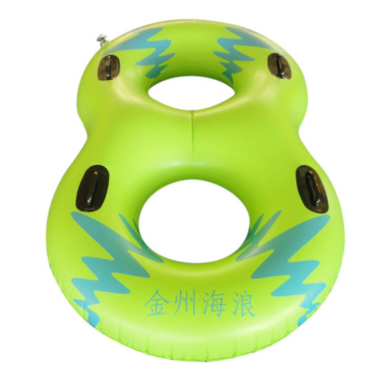 Yellow Color PVC Inflatable Double Water Ski Tube for Water Park pictures & photos