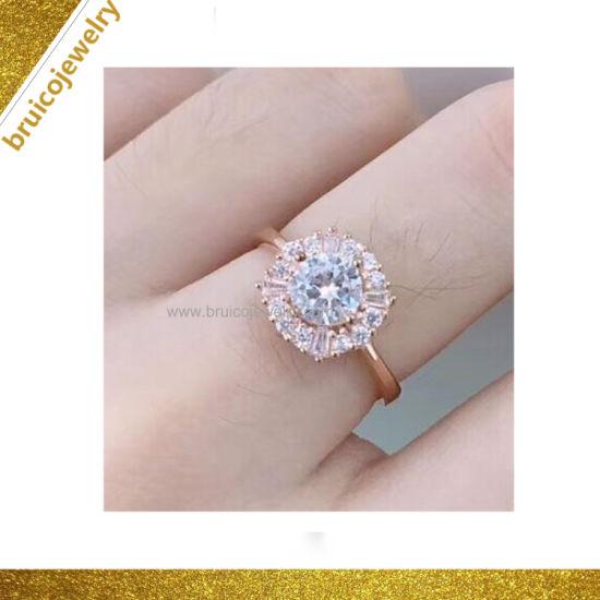 d7e311c1ae9f2 Beautiful Diamond 18K Gold Plated Single Stone Ring