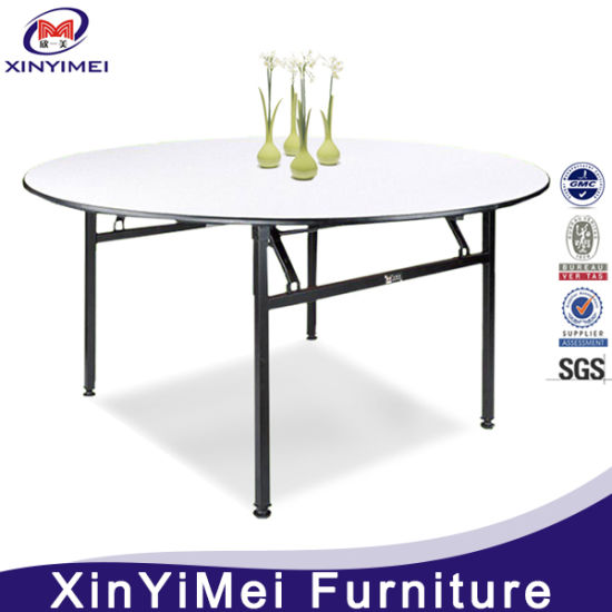 2016 round plywood foldable pvc coated hotel dining table