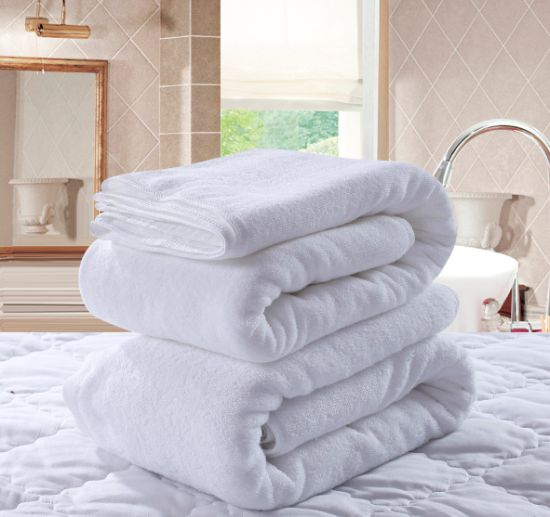 Hotel Supply White Cotton Face Towel