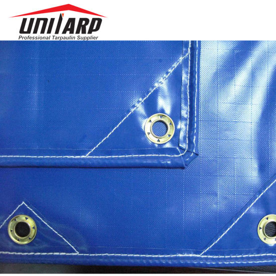 Finished Vinyl Coated Ripstop Tarp Sheet with Stitching and Eyelets