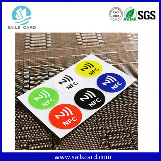 ISO14443A Printable Paper Programmable RFID NFC Tag / Sticker / Label for Phone pictures & photos