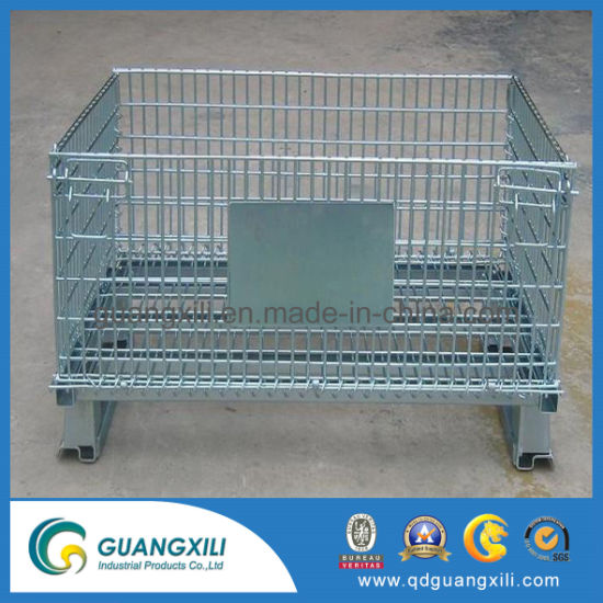 Warehouse Wire Metal Rolling Storage Container Cage