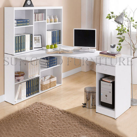 China Computer Table Models Study Desk With Bookshelf Used Computer
