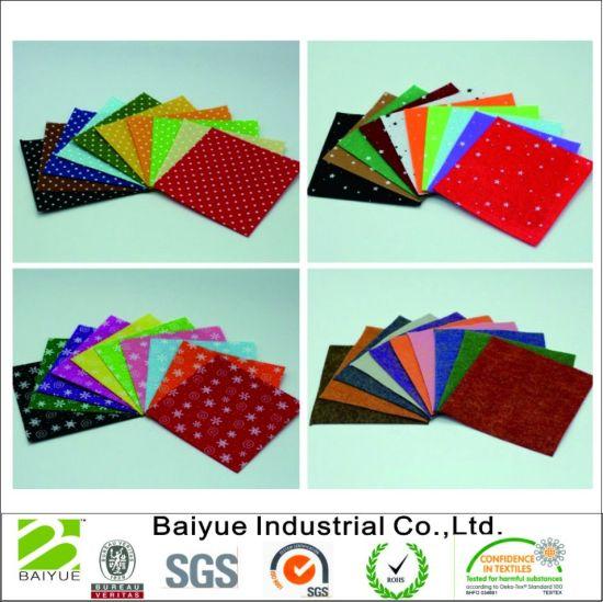 China Whole Sale High Quality Printed Felt Fabric For Kids