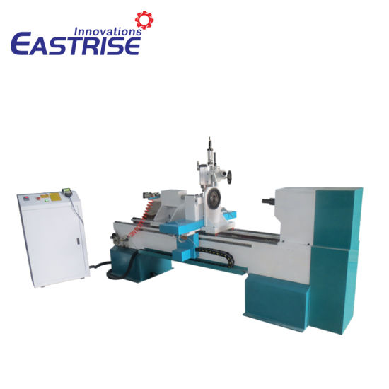 4-Axis Single-Tool Holder CNC Wood Turning Lathe with Carving Spindle