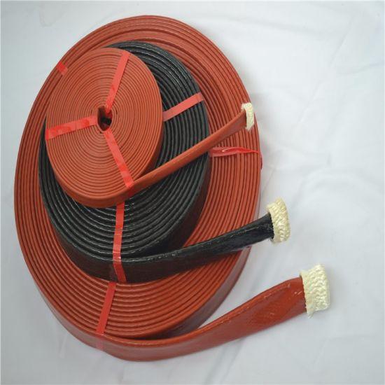 Heat Insulated Silicone Fiberglass Insulation Sleeve