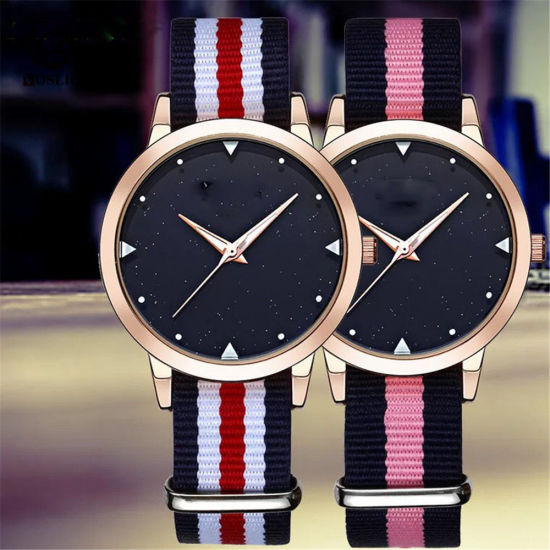 Fashion Simple Casual Nylon Belt Lady Watch Students Women Quartz Watch -V145 pictures & photos