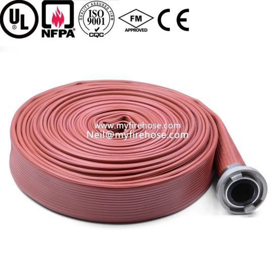 2 Inch Ageing Resistance of PU Cotton Canvas Fire Hose pictures & photos