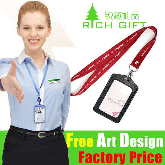 Wholesale Custom Promotion Clip Chain Cord Printed Office Depot Strap for Card