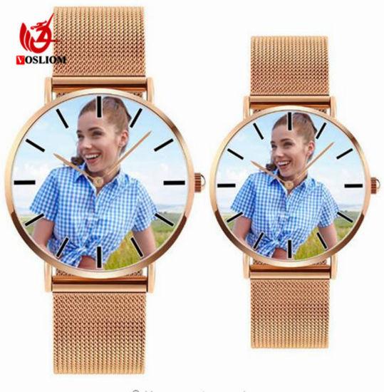 88471017dfd China Custom Photo Vintage Classic Genuine Calf Couple Watch  V330 ...