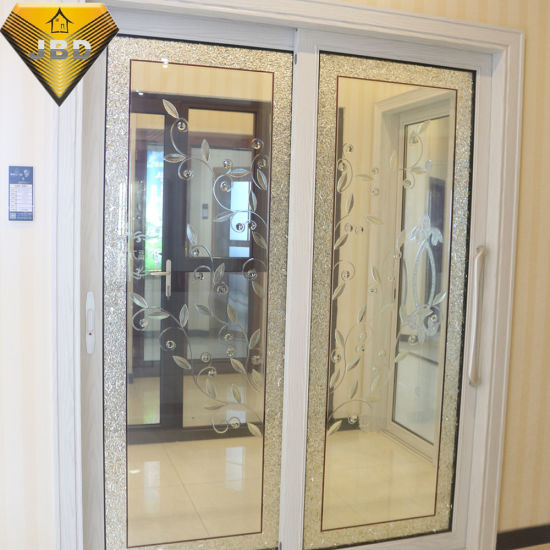 Foshan Factory Interior Aluminum Sliding Door With Designed Glass