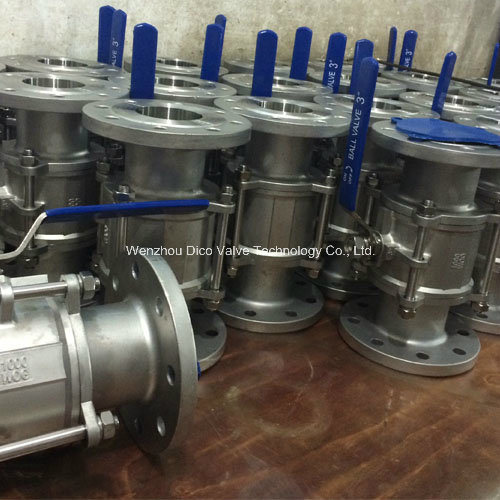 API Stainless Steel 3PC Flange High Pressure Ball Valve pictures & photos