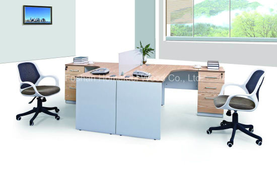 Charmant 2 Person Melamine Staff Desk/Particle Office Table/Office Workstation  (HF E552)