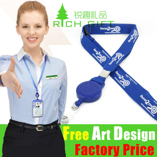 2019 Custom Newest Polyester/Sublimation Lanyard for Organization Heat Transfer Printing Lanyard with Metal Dog Clip and Safety Breakaway Badge Reel with No MOQ
