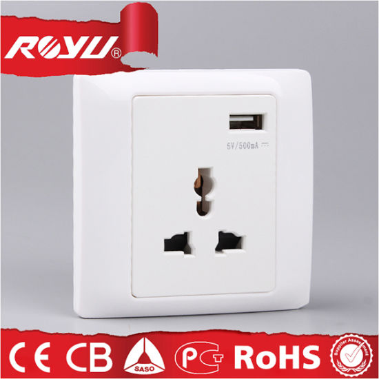Universal Electrical Wall Outlet with USB, USB Power Outlet