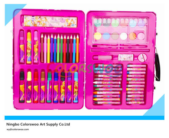 China 68 Pcs Drawing Art Set In Plastic Box For Kids And Students