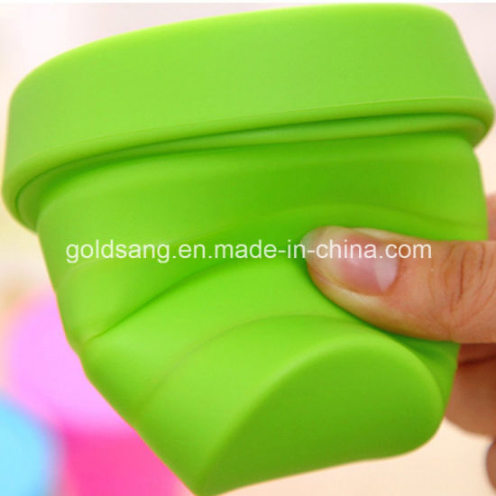 Fashion Heat-Resistant and Portable Silicone Foldable Cup for Promotion pictures & photos