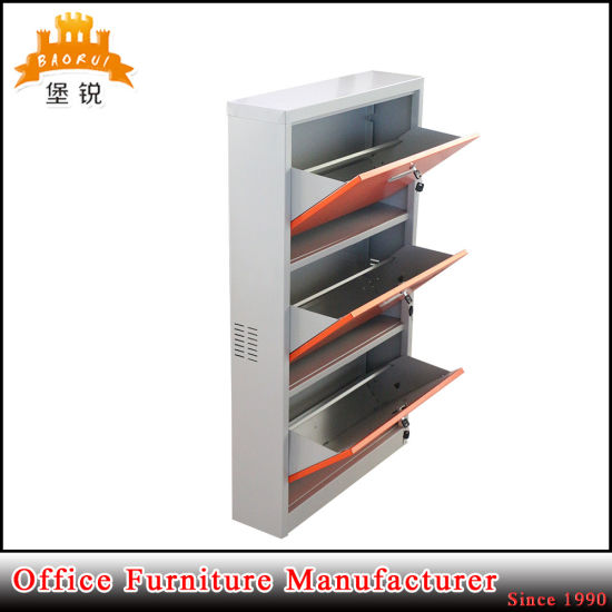 Cheap Price Colorful Iron 3 Drawers Shoe Rack pictures & photos