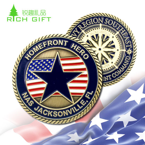 American USA National Military Coins Custom Design Soft Enamel Infilled Functional Embossed Souvenir Challenge Coin