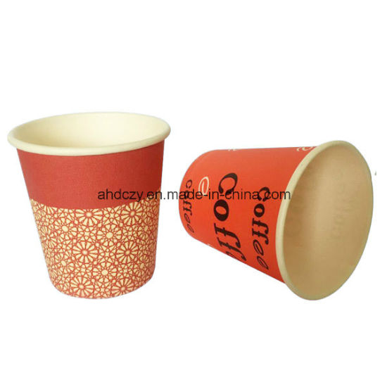 Custom Printed 6oz Disposable Single Wall Paper Cup From China