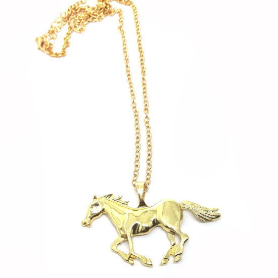 Fashion Jewellery Horse Pendant Necklace Gold Plated