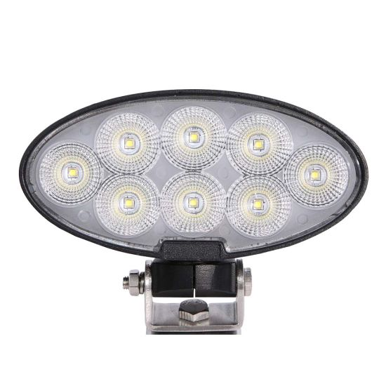 """7"""" 80W Oval CREE LED Tractor Truck Work Lights with Swivel Brackets"""