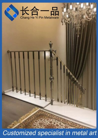 Factory Manufacture Silver Stainless Steel Indoor Stair Balastrade/Railing for Hotel/Villa