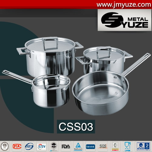7PCS Stainless Steel Cookware Set with Lid, Kitchen Utensils