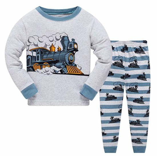Boys Dinosaur Pajamas 100/% Cotton 2 Piece Sleepwear Clothes Set For Kids