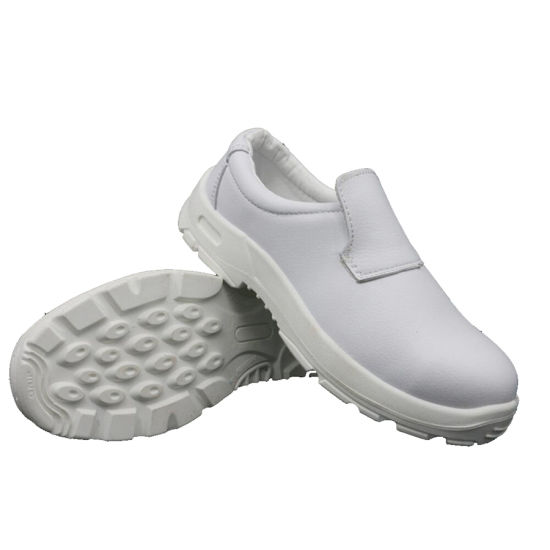 China Genuine Leather White Color Safety Shoes