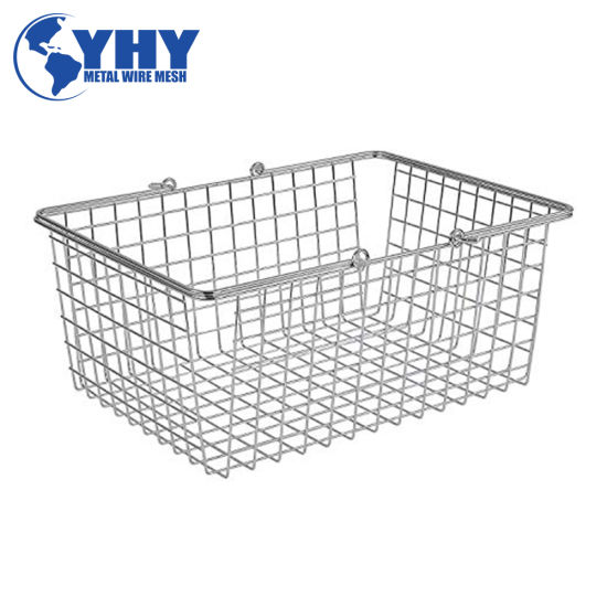 Shallow Steel Storage Container Basket Cage